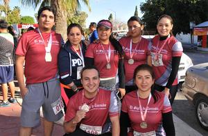 22022020 EN LA PLAZA DE TOROS.  Jesús, Lorena, Rosa, María, Omar, Othon y Othon.