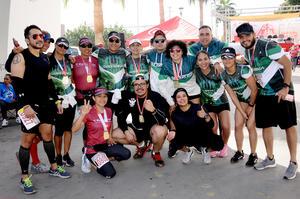 22022020 LLEGAN A LA META.  Equipo de corredores Club Guerreros.