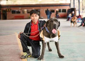 21022020 DIVERTIDA MAñANA.  Fernando Sánchez y su mascota Thor.