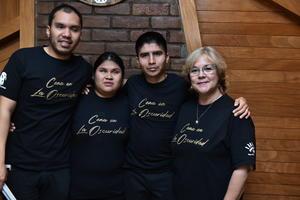 26022020 EVENTO GASTRONóMICO.  Edson González, María del Carmen Hernández, Antonio Puentes y Mirna Vallejo.