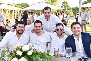 Afredo Bustos,Juan Carlos Arriaga,Fernando Marroquin,Carlos Alatorre y Ricardo Seceña.