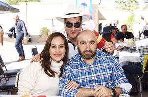 Eduardo Sánchez, Angel Fernandez y Mónica Colles