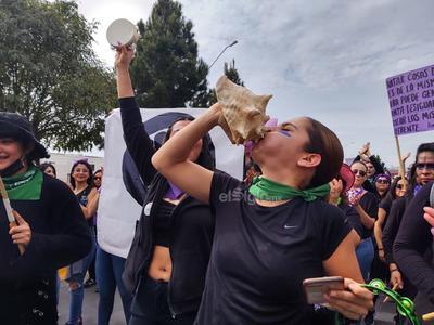 La marcha fue exclusiva de mujeres.
