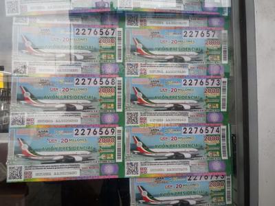 En total, serán 100 los ganadores de un premio de este sorteo alusivo al avión presidencial.