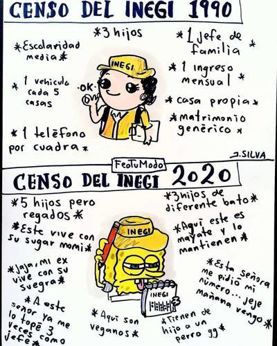 Ya están aquí los mejores memes del Censo 2020 del INEGI