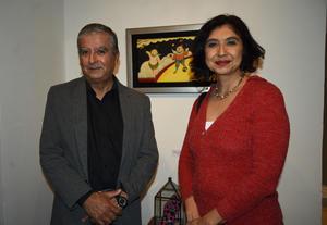 06032020 EN UNA EXPO.  Armando Monsiváis y Teresa Muñoz.