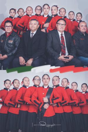 08032020 Ganadoras del primer lugar del concurso de Escoltas de Banderas de la copa BAC en la Ciudad de Parras de la Fuente, Coahuila.
