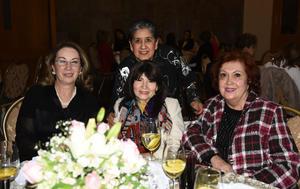06032020 ENTRE AMIGAS.  Chelito, Rake, Beatriz y Rosario.
