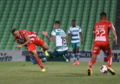 SANTOS LAG VS NECAXA A PUERTA CERRADA     Santos Laguna VS NECAXA a puerta cerrada jornada 10 clausura 2020 Santos 1 Necaxa 1 primer tiempo