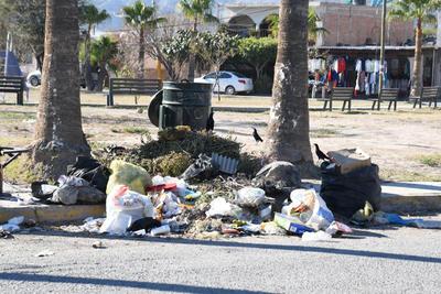 En varios puntos de la plaza es constante encontrar montones de basura y escombros. Vecinos dicen que los contenedores no son suficientes.