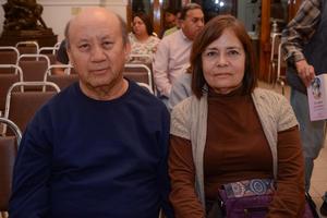 18032020 RECIENTE EVENTO CULTURAL.  Ricardo y María del Refugio.
