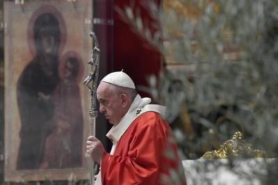 El Papa Francisco encabezó la ceremonia en el Vaticano.
