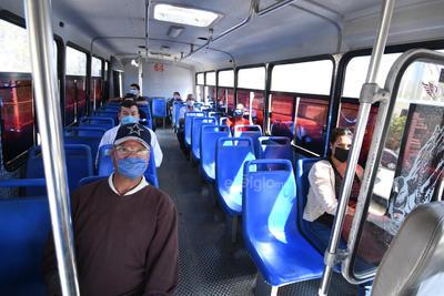 Las rutas que pudieron seguir con su trayecto, cumplían las medidas de salud, como el uso de cubrebocas por parte de todos sus pasajeros, además de que las unidades hubieran sido sanitizadas.