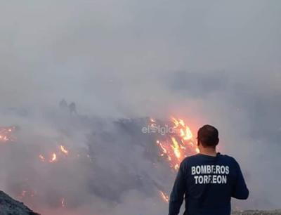 Cañón del Indio en Torreón envuelto en llamas