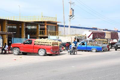 El precio del melón y sandía se mantiene a la expectativa para los productores, a 7 y 4.50 pesos, respectivamente, en el lugar conocido como Las Meloneras, donde se comercializan a diario.