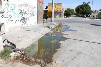 Aguas negras. Otra de las pruebas del abandono son las aguas negras que brotan debido a la falta de mantenimiento por parte de los trabajadores del Sistema Municipal de Aguas y Saneamiento (Simas).