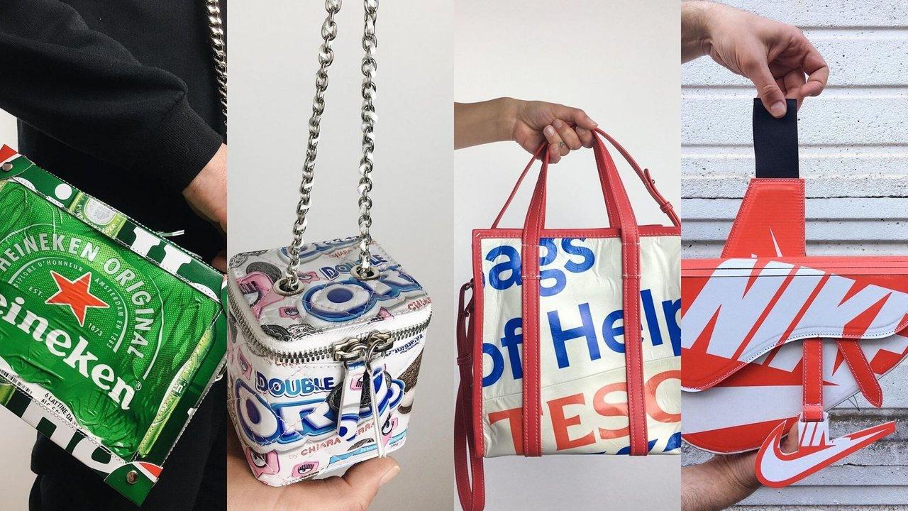 Rediseñan de bolsos con material reciclado