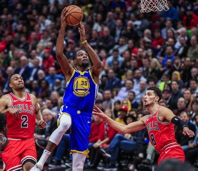 Kevin Durant, baja por toda la temporada por una lesión, 63.9.