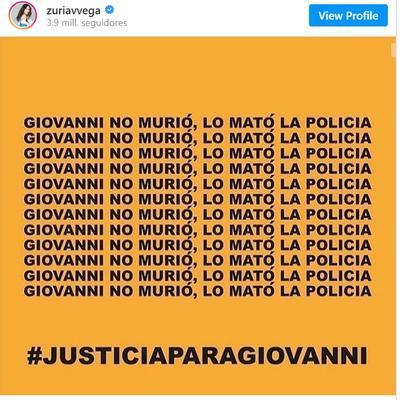 Famosos exigen justicia por caso Giovanni López