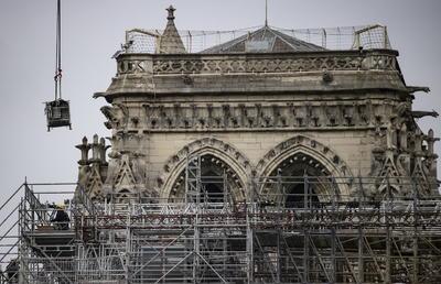 El fuego afectó a Notre Dame el 15 de abril de 2019.