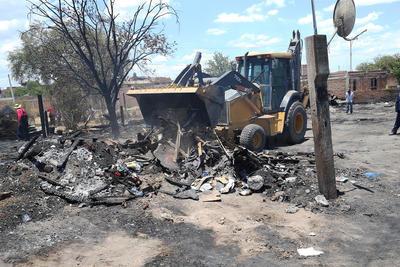 Fueron 11 las viviendas de materiales frágiles, las que se consumieron por el fuego