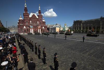 En el desfile estuvieron unos 14,000 soldados.