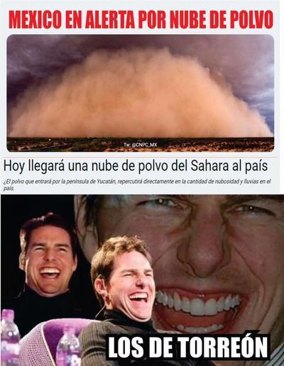 La Laguna recibe tolvanera y 'polvo del Sahara' con memes