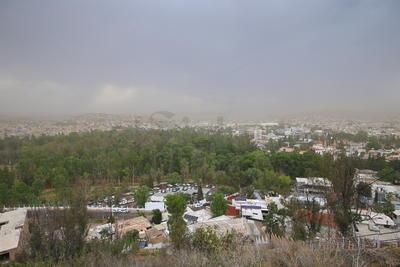 Hay zonas en la que se presentó llovizna leve.