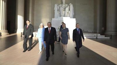También estuvieron la embajadora de México en EUA y el embajador del país norteamericano en territorio mexicano.