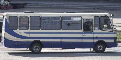 Hombre toma rehenes en autobús en Ucrania.