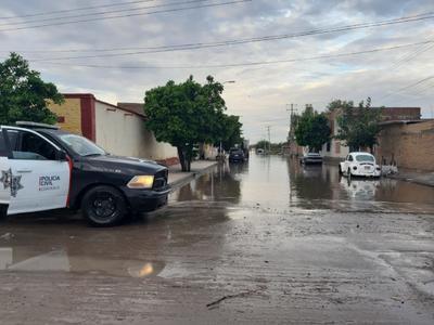 Hasta el momento se reportan dos colonias afectadas con anegación importante de agua: la Barrio Nuevo y la Colonia Miguel Hidalgo.