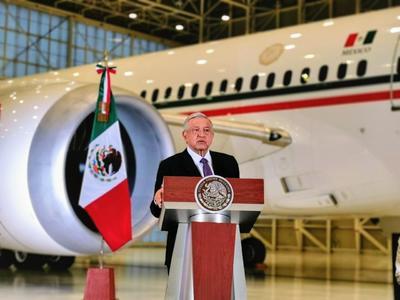 El avión presidencial está en México listo para su venta.