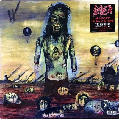 CHRIST ILLUSION: Grupos religiosos se le fueron encima a Slayer por presentar a un Cristo sin brazos, ensangrentado y tuerto. El grupo presentaría en otra de sus producciones una Biblia ensangrentada.