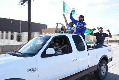 Aficionado realizan caravana vehicular para apoyar a Santos Laguna    Guerreros, Afición