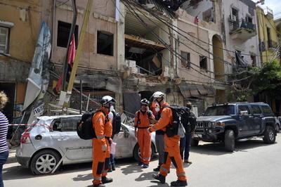 Así luce el puerto de Beirut tras la explosión