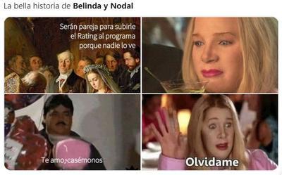 Surgen los memes de la 'ruptura' entre Belinda y Christian Nodal