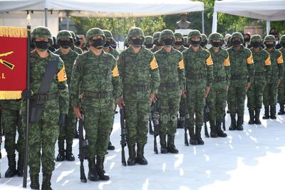 Homenajearon al grupo de cadetes mexicanos.