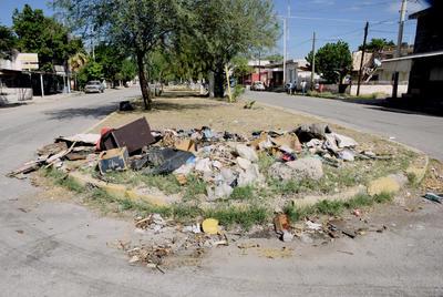 ¿Y el paso? La falta de mantenimiento en diversos camellones y plazuelas de la ciudad se refleja en las grandes cantidades de basura que se acumula por varios días y hasta semanas. El libre tránsito se ve afectado.