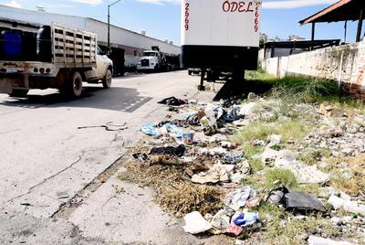 El 'colmo'. Otro de los grandes  basureros es el localizado en la calzada Saltillo 400 entre calle Guerrero y calzada Prof. Ramón Méndez, precisamente a las afueras de un negocio recolector de basura.