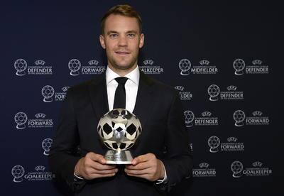Otro que optaba al galardón de futbolista más destacado era el arquero Manuel Neuer, quien lideró su categoría por delante del esloveno Jan Oblak (Atlético de Madrid) y del costarricense Keylor Navas (París Saint-Germain).
