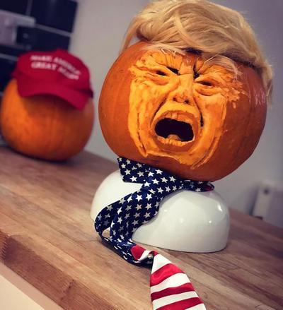 'Horroroso Halloween', calabazas con rostro de Donald Trump inundan la red