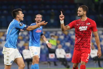 Cae el Napoli e Hirving Lozano en inicio de la Europa League