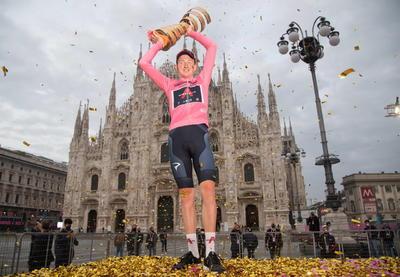 Tao Geoghegan Hart se corona campeón del Giro de Italia