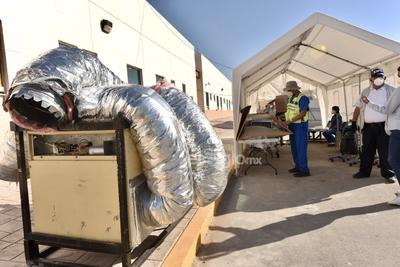 Llega Hospital Móvil de Acuña para pacientes COVID a Torreón