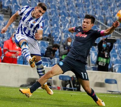 Napoli vence al Real Sociedad, líder de la Europa League