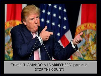 'Detengan el conteo', exige Trump y memes le 'responden' en redes