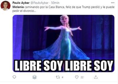 Con memes aseguran que Melania celebra su salida de la Casa Blanca