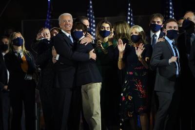 Joe Biden da su primer mensaje como presidente electo de los Estados Unidos