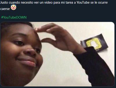 Los memes se hacen presentes tras las fallas en YouTube