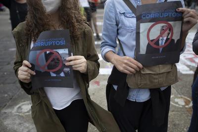 Protestan nuevamente contra el presidente y el Congreso de Guatemala